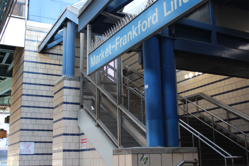 SEPTA Market & Frankfurt Station Stair Railings & Partitions Sign View