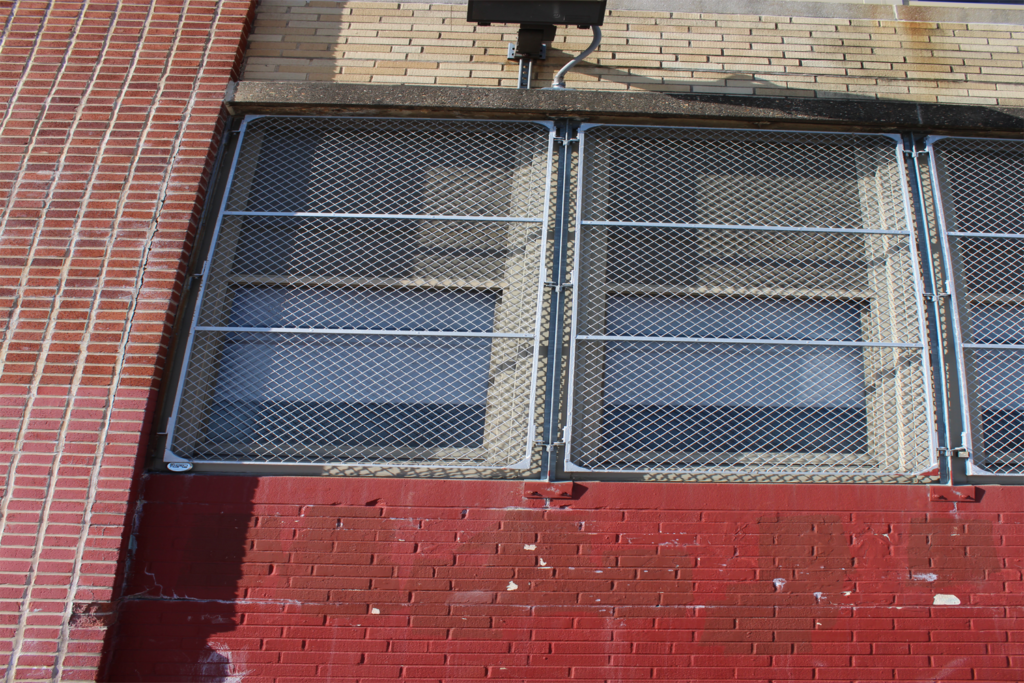 Local Middle School Protective Wire Mesh Front View