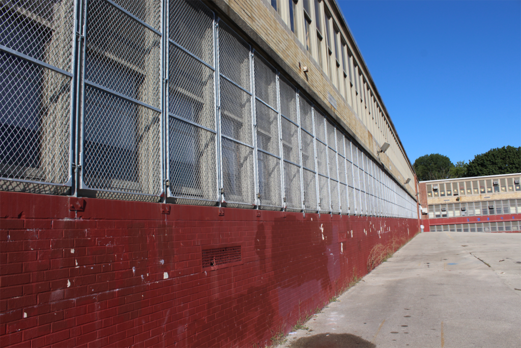 Local Middle School Protective Wire Mesh Side View