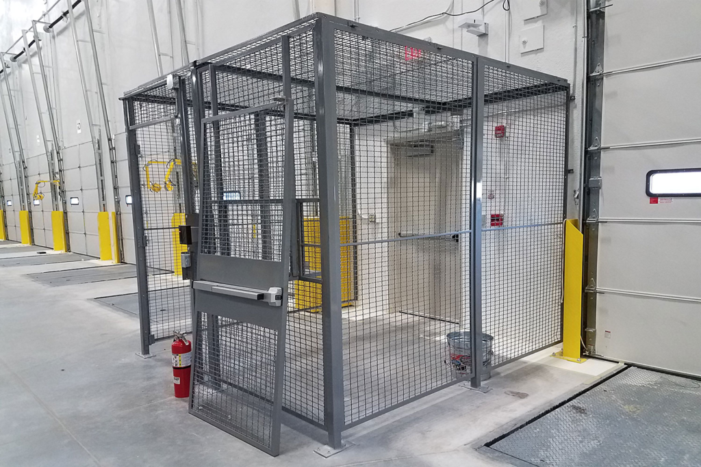 Warehouse Security Access Cage Side View