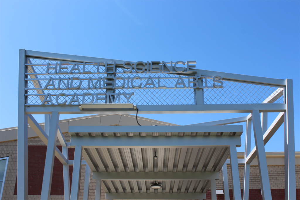 Trenton High School Health Science And Medical Arts Building Sign Front View