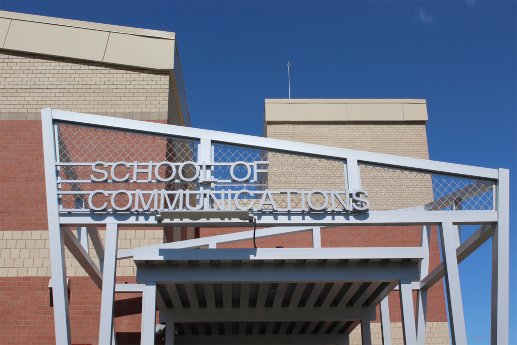 Trenton High School Communications Sign Front View