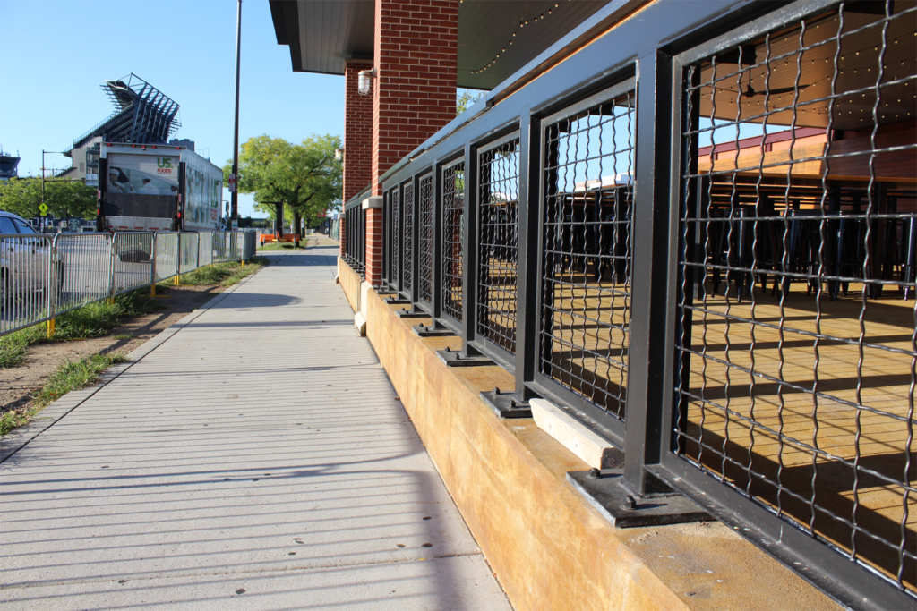 Railing Partitions X-Finity Live Outdoor Patio