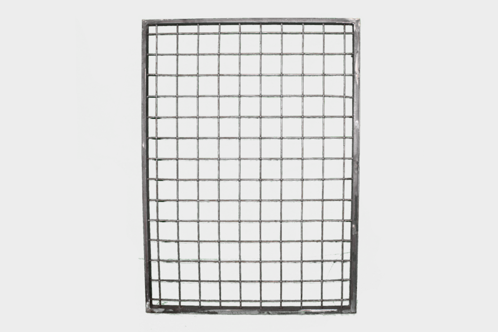 Finished Wire Mesh Panel Wide Squares Full View