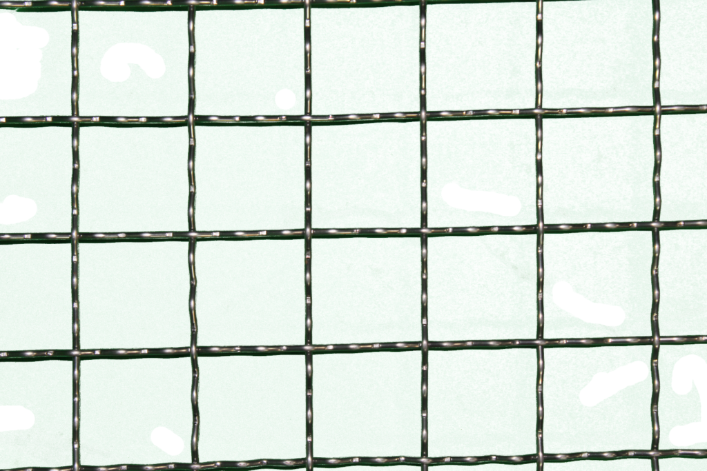 Finished Close Up Wire Mesh Squares