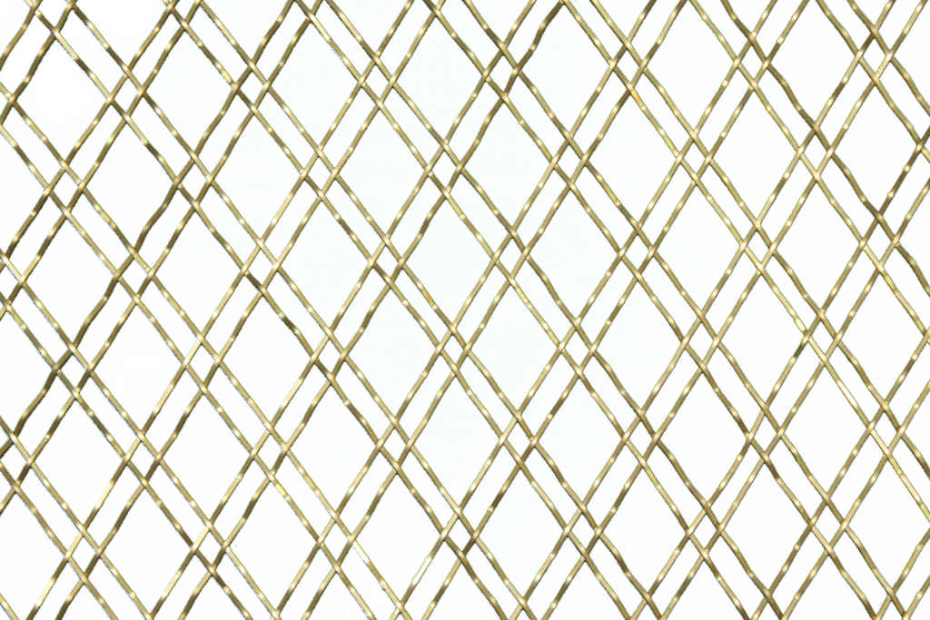 Double Gold Diamond Wire Mesh Close Up